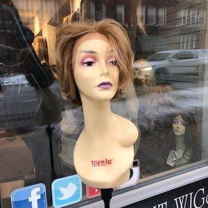 Short bob blonde mix 2216 Lacefront wig 2020